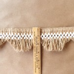 3in Scalloped Lace Fringe Jute-Natural Cotton