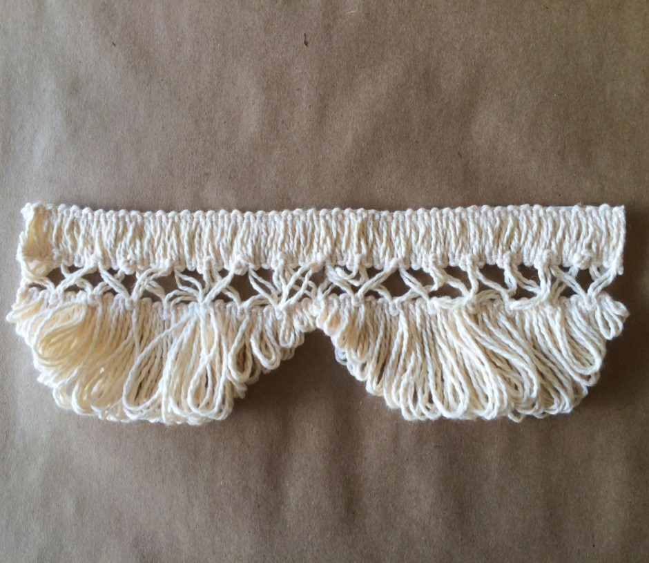 Scalloped Lace Fringe 3in-Natural Cotton