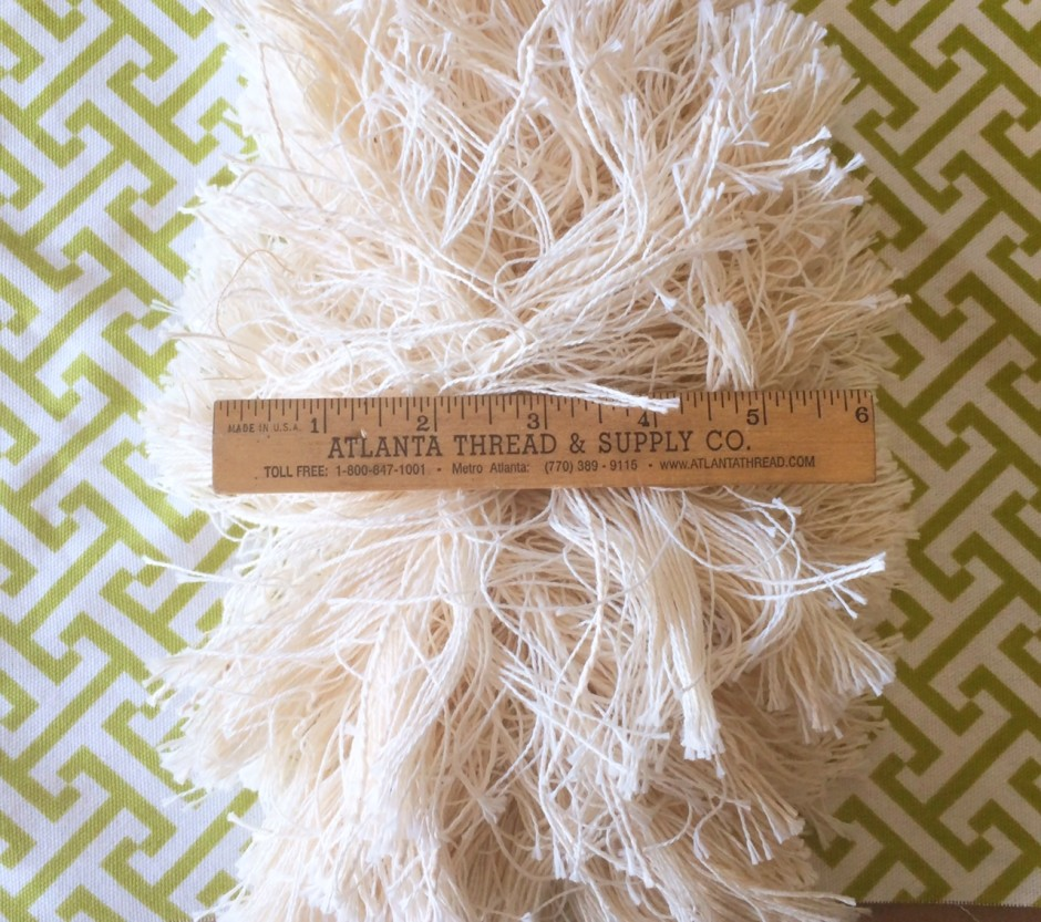 4.5in Extra Thick Textured Brush Fringe-Natural Cotton