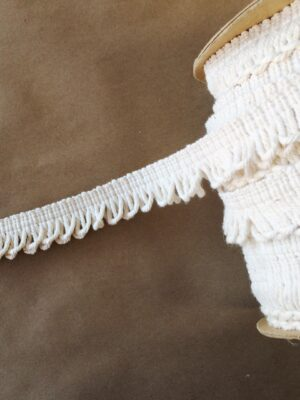 1in Natural Cotton Loop Fringe