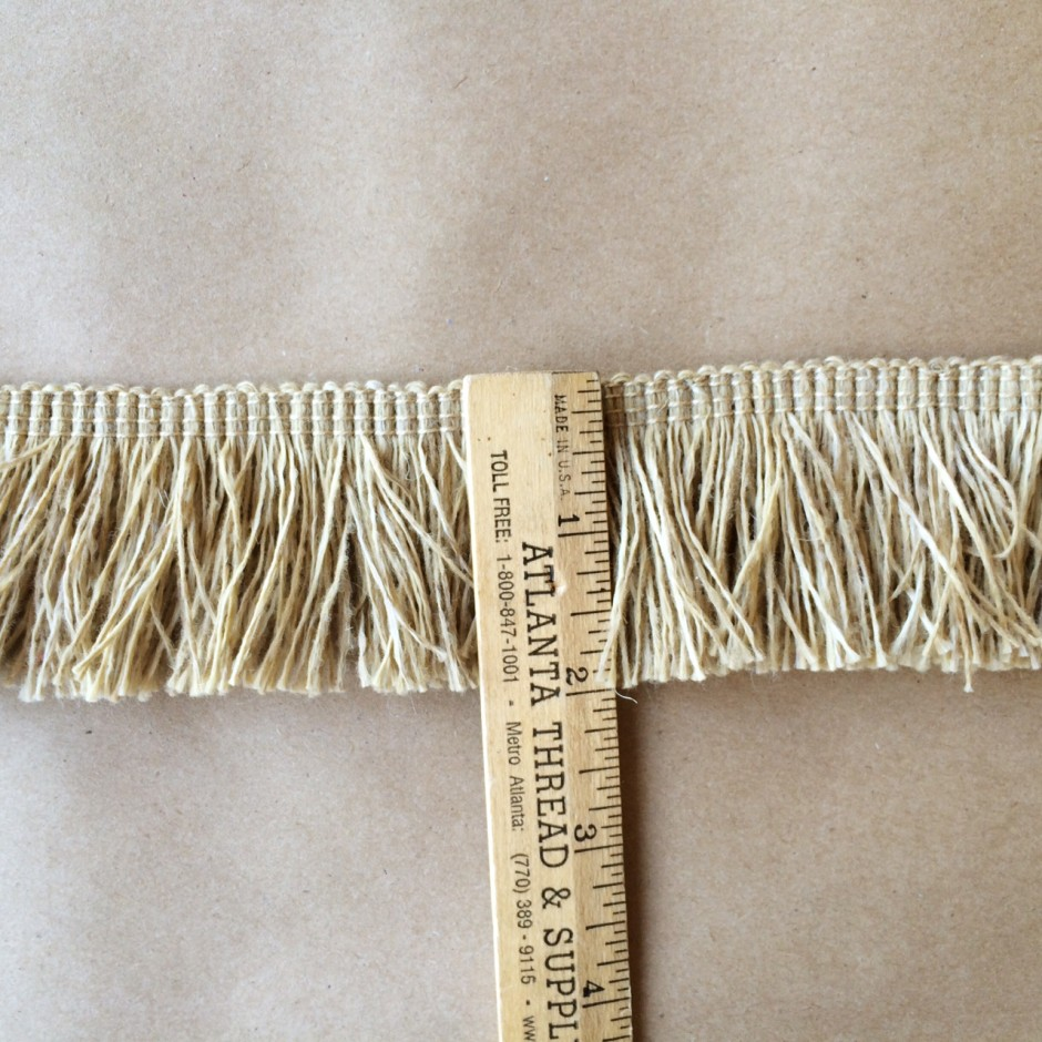Outdoor Jute Brush Fringe 2in