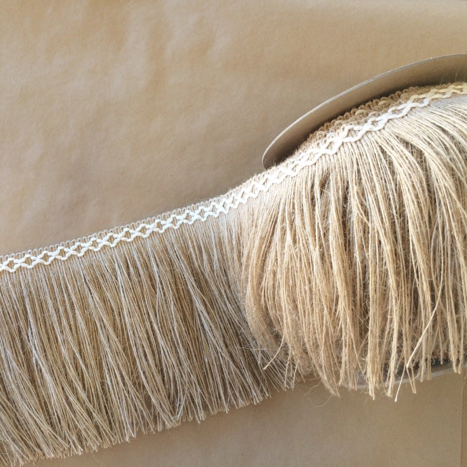 Jute 8in Diamond Fringe-Natural Cotton