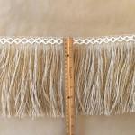 Jute 8in Diamond Fringe-Natural Cotton ruler