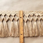 Jute Diamond Double Knot Fringe 6.5 in ruler1