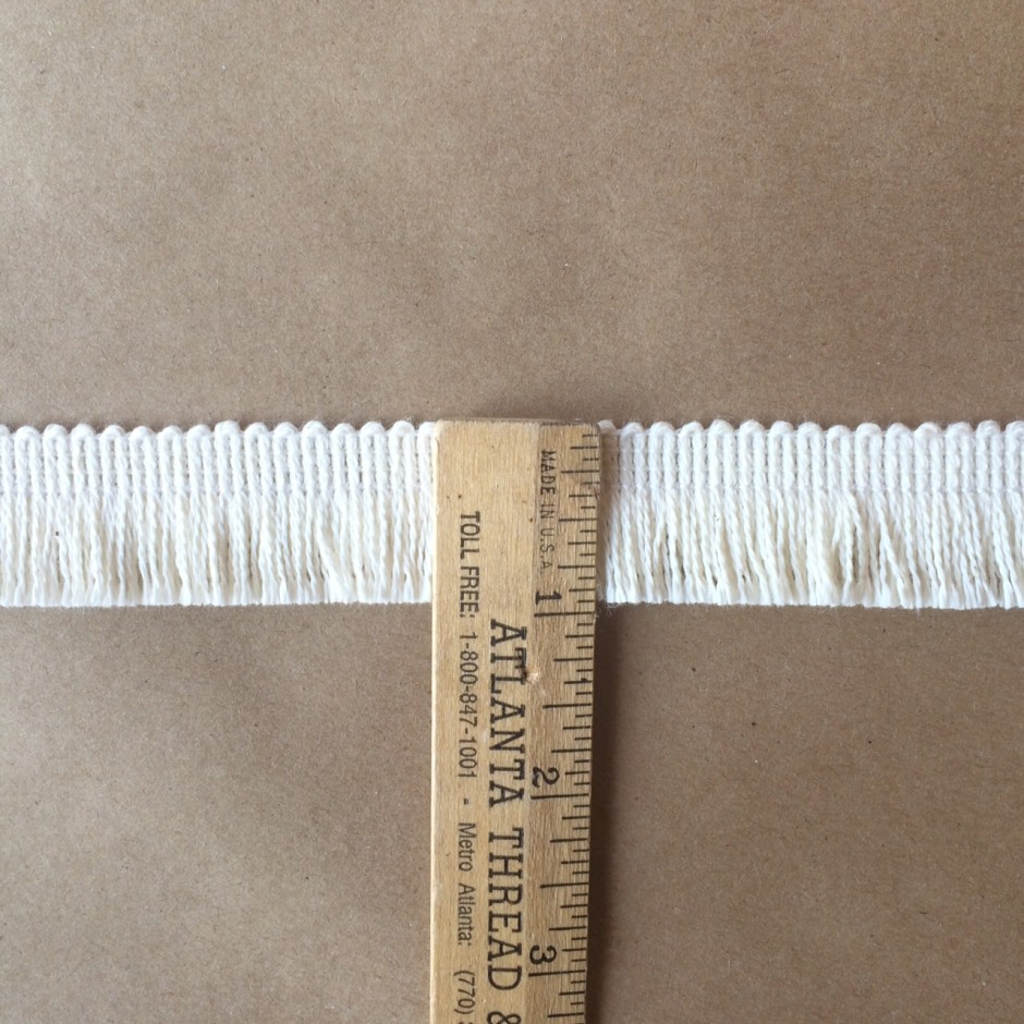 Micro Skirt Fringe-Natural Cotton ruler