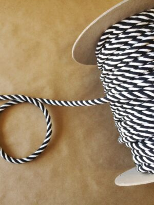 Small Cord-Indoor Outdoor-Black and White