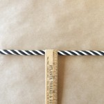Small Cord-Indoor Outdoor-Black and White ruler