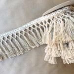 Diamond Double Knot Fringe 6.5-Jute with Natural Cotton