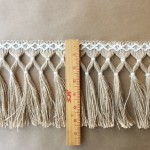 Diamond Double Knot Fringe 6.5-Jute with Natural Cotton ruler