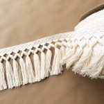 Diamond Double Knot Fringe 6.5-Natural Cotton