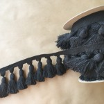 5in Chunky Tassel Fringe-Black