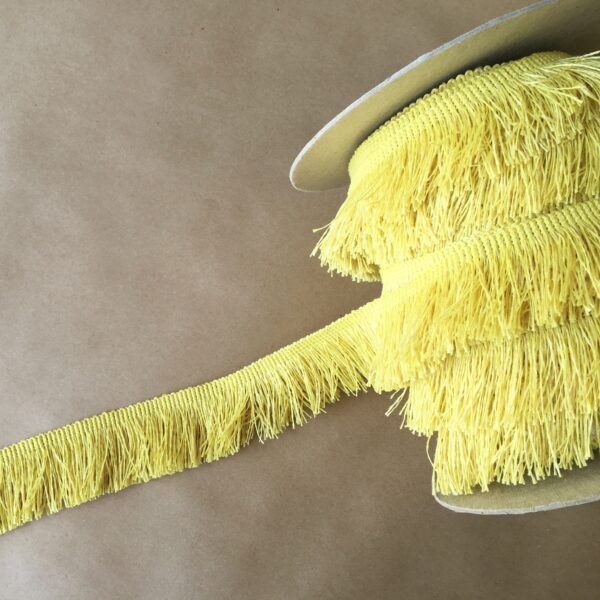Outdoor 2in Cut Fringe-Lemon