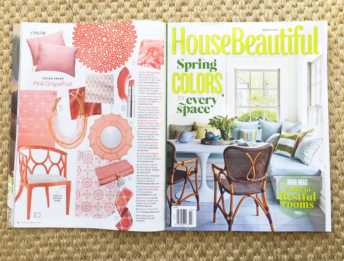 House Beautiful March 2017 Color Crushing On Our Genesis