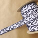 Organic Greek Key 2in-Hermes (Dark Navy)